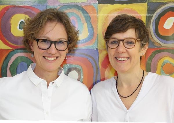 Das Foto zeigt die Ärztinnen Claudia Nebel und Dr. med. Renate Abele